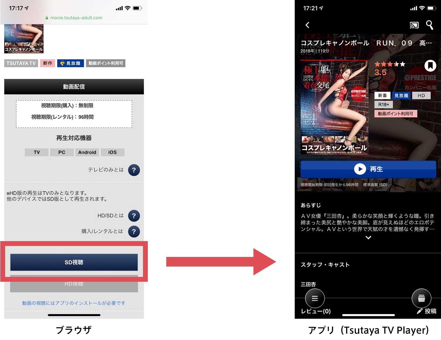 Tsutaya TVの視聴手順