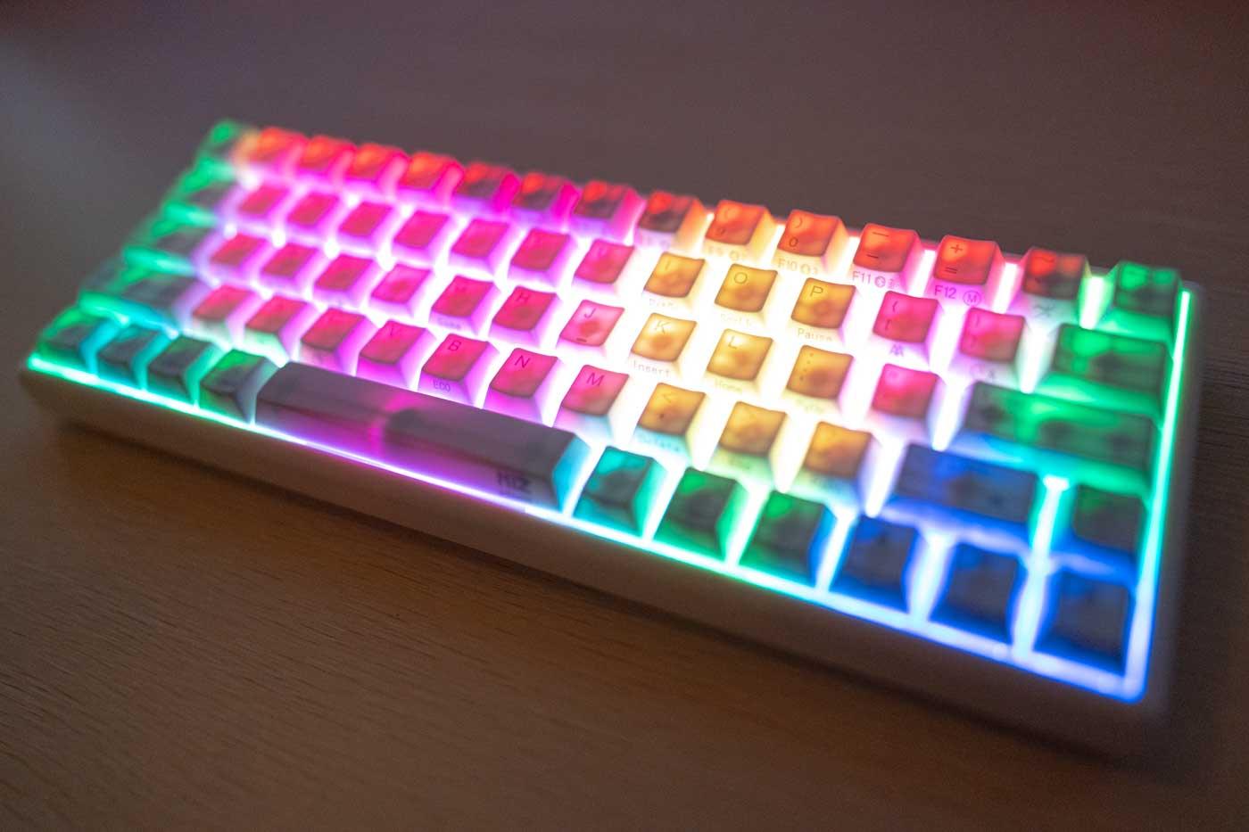 RGBバックライト点灯時のNIZ